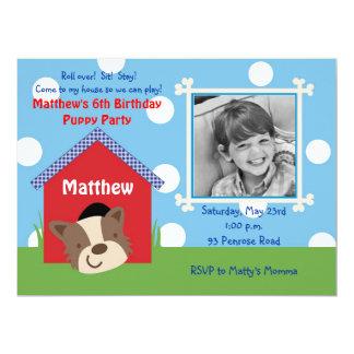 "Puppy Birthday 6.5"" X 8.75"" Invitation Card"