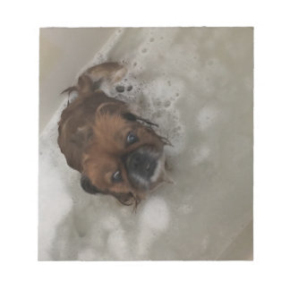 PUPPY BUBBLES NOTEPAD