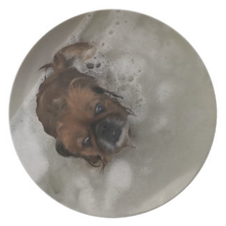 PUPPY BUBBLES PLATE