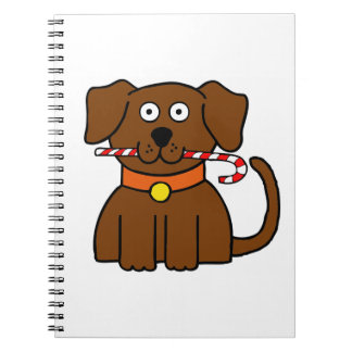 Puppy Candy Cane Notebooks