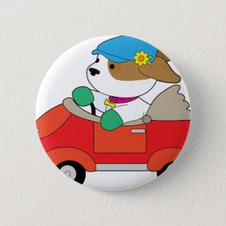 Puppy Car 2 Inch Round Button