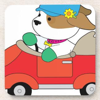 Puppy Car Drink Coaster