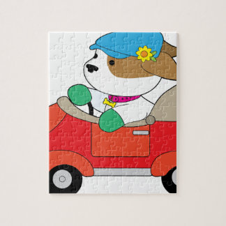 Puppy Car Jigsaw Puzzle