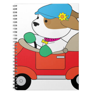 Puppy Car Notebooks