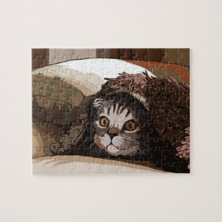 Puppy cat jigsaw puzzle