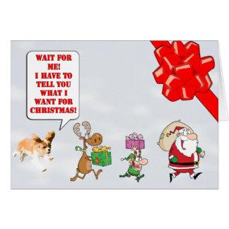 Puppy Cavalier King Charles Spaniel Christmas Card