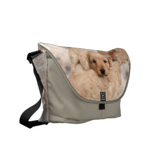 Puppy Collage Messenger Bag