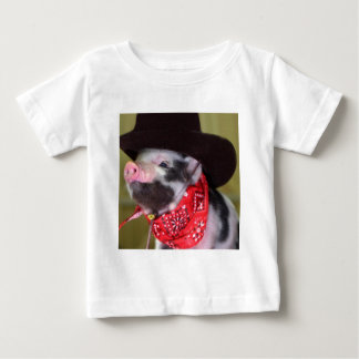 puppy Cowboy Baby Piglet Farm Animals Babies Baby T-Shirt