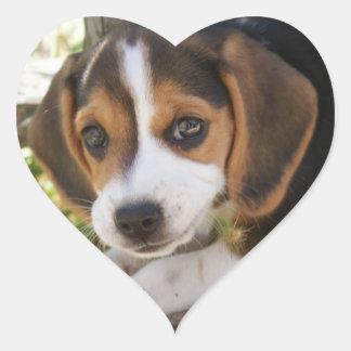 Puppy Dog Beagle Heart Sticker