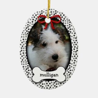 Puppy Dog Commemorative Remembrance OR Christmas Ceramic Ornament