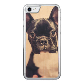 Puppy dog curious and cute carved iPhone 8/7 case
