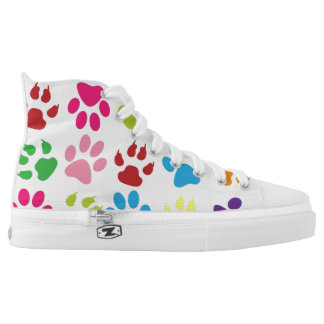 Puppy Dog Feet High Top Canvas Shoes