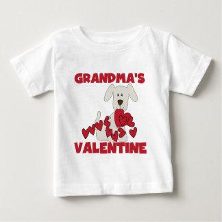 Puppy Dog Grandma's Valentine Baby T-Shirt