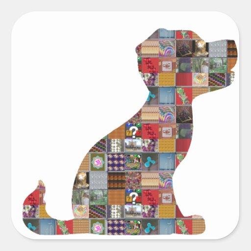 PUPPY Dog KIDS love CRYSTAL Stone Jewel NVN476 fun Sticker