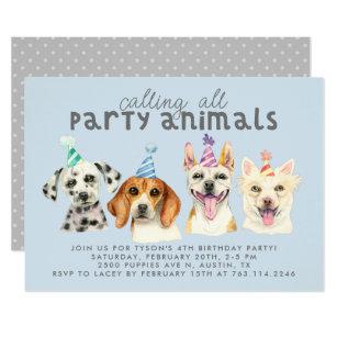 Funny Dog Birthday Invitations Announcements