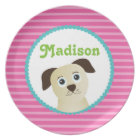 Puppy Dog - Personalized Melamine Plate