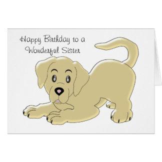 Puppy Dog Sister Birthday Card