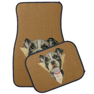 """Puppy Eyes"" Pit Bull Dog Watercolor Painting 3 Car Mat"
