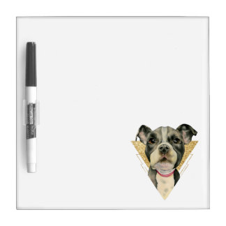 """Puppy Eyes"" Pit Bull Dog Watercolor Painting 3 Dry Erase Board"
