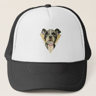 """Puppy Eyes"" Pit Bull Dog Watercolor Painting 3 Trucker Hat"