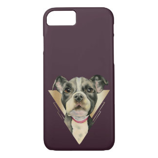 """""""Puppy Eyes"""" Pit Bull Dog Watercolor Painting 4 iPhone 8/7 Case"""