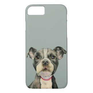 """Puppy Eyes"" Pit Bull Dog Watercolor Painting Case-Mate iPhone Case"