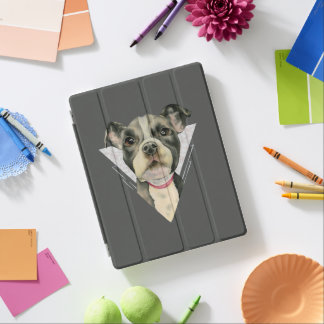 """""""Puppy Eyes"""" Pit Bull Watercolor Painting 2 iPad Cover"""