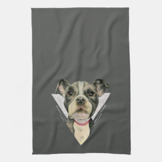 Puppy Eyes Watercolor Painting 2 Kitchen Towel