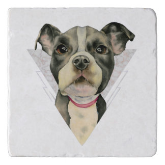 Puppy Eyes Watercolor Painting 2 Trivet