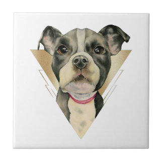 Puppy Eyes Watercolor Painting 4 Tile