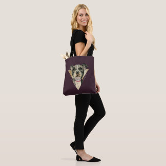 Puppy Eyes Watercolor Painting 4 Tote Bag