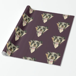 Puppy Eyes Watercolor Painting 4 Wrapping Paper