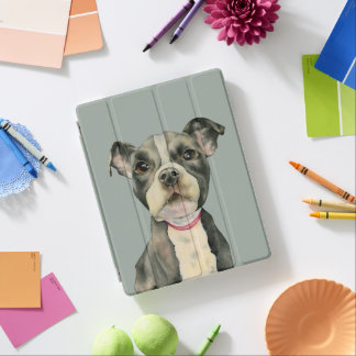 Puppy Eyes Watercolor Painting iPad Cover