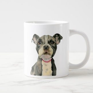 Puppy Eyes Watercolor Painting Large Coffee Mug