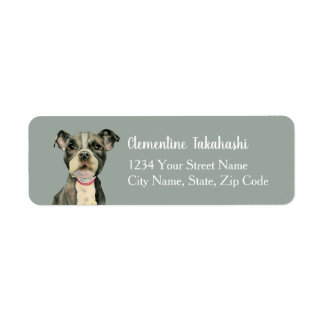 Puppy Eyes Watercolor Painting Return Address Label