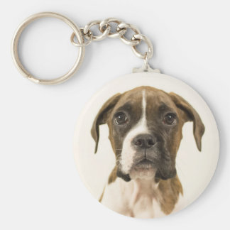 Puppy Face Button Keychain
