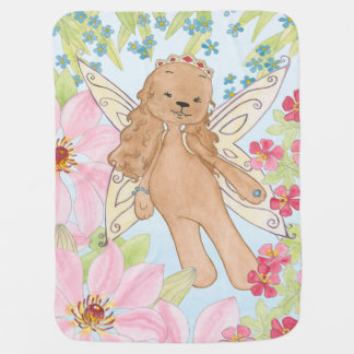 Puppy fairy dog baby blanket