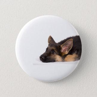 puppy german sheperd 2 inch round button