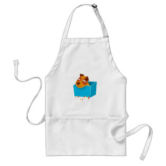 Puppy Hiding In Box Surrounded By Apple Cores Standard Apron