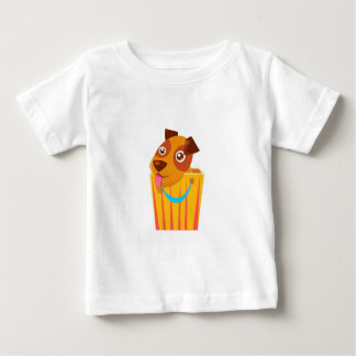 Puppy Hiding In Shopping Bag Baby T-Shirt