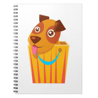 Puppy Hiding In Shopping Bag Notebook