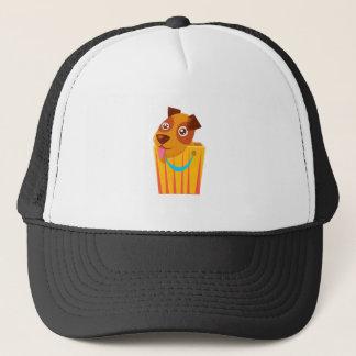 Puppy Hiding In Shopping Bag Trucker Hat