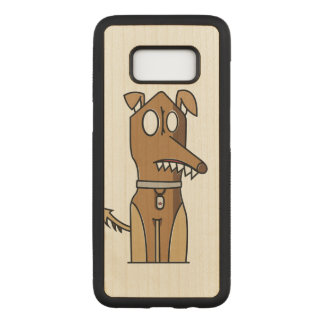 Puppy Illustration Carved Samsung Galaxy S8 Case