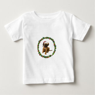 Puppy in Santa Hat Baby T-Shirt