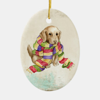 Puppy In Scarf Ornament