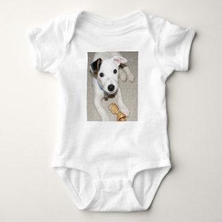 puppy jack russell terrier baby bodysuit