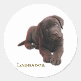 Puppy Lab Classic Round Sticker