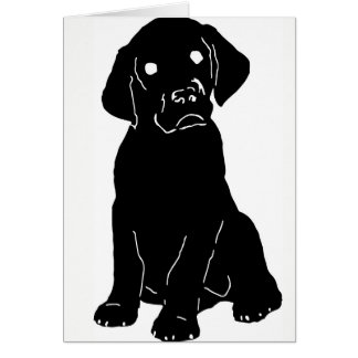 Puppy Lab Love Card w/Custom Message!