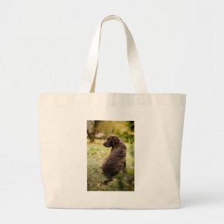 puppy large tote bag