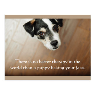 Puppy Lick Therapy Dog Postcard